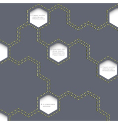 Geometric simple background with hexagons vector image