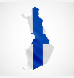 hanging finland flag in form of map republic of vector image vector image