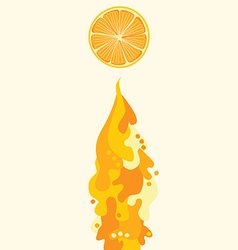 orange juice flowing liquid vector image vector image