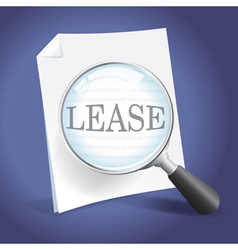 Reviewing a Lease Agreement vector image