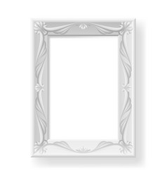 silver frame on white background for design vector image vector image