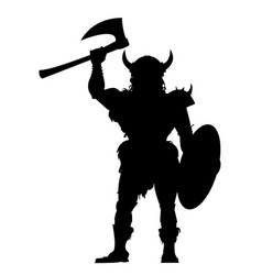 viking warrior vector image