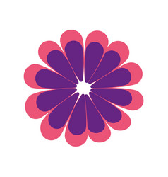 flat blue flower icon vector image vector image