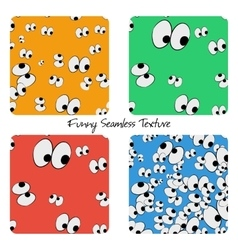Set of colored funny seamless patterns vector image vector image
