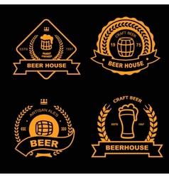 Set of vintage gold badge logo and design vector image vector image