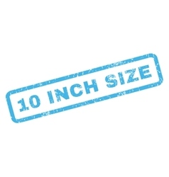 10 Inch Size Rubber Stamp vector image