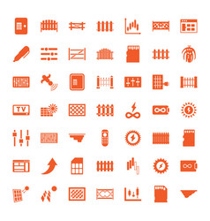 49 panel icons vector image