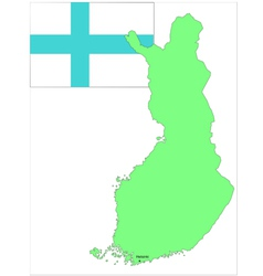 6136 finland map and flag vector image