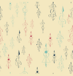 Abstract seamless pattern multi-coloredarrows vector