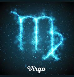 Abstract zodiac sign virgo on a dark vector