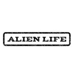 Alien life watermark stamp vector