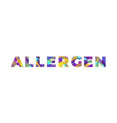 Allergen concept retro colorful word art vector