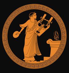 Ancient greek god vector