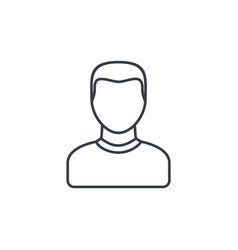 Avatar man thin line icon linear symbol vector