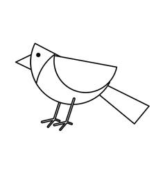 Bird of Christmas season design vector