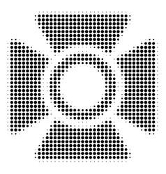 Black dot searchlight icon vector