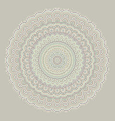 Bohemian mandala ornament background - round vector