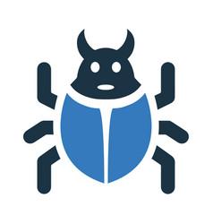Bug fixing repair reparation weak side lapsus icon vector