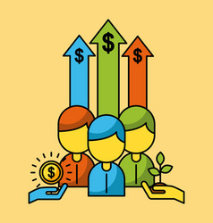 business people finance investment vector image