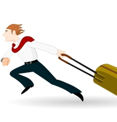 Businessman in a hurry vector image vector image