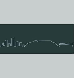 Cape town single line skyline vector