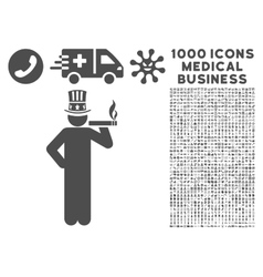 Capitalist Icon with 1000 Medical Business vector