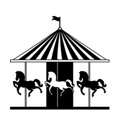 carousel circus carnival vector image