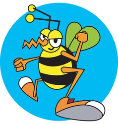 Children book wasp vector