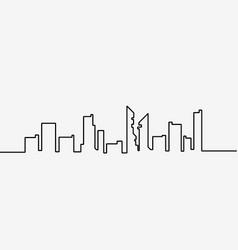 City landscapes line vector