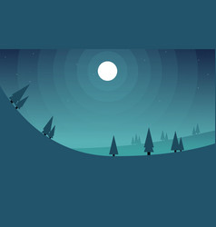 Collection hill at night game background vector