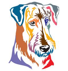 Colorful decorative portrait of dog airedale vector