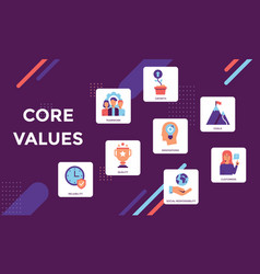 Core values infographic vector