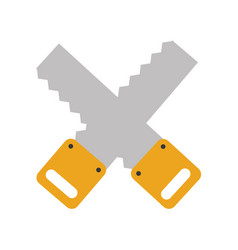 cross woodworking saw isolated icon vector image