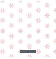 cute flower fabric pattern background vector image