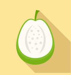 cutted guava icon flat style vector image