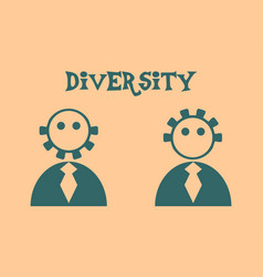 Diversity between humans metaphor vector