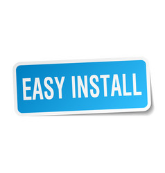 Easy install square sticker on white vector
