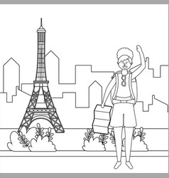 eiffel tower paris design vector image