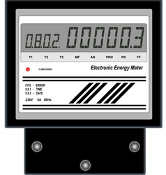 Electronic Energy Meter vector