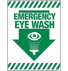 Emergency eye wash wall sign eps 10 vector