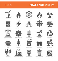 energy icons grey set vector image