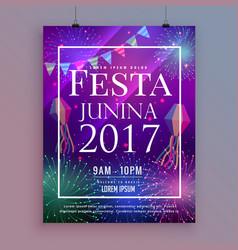 Festa junina party celebration flyer design vector