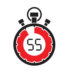 fifty five minute stop watch countdown vector image