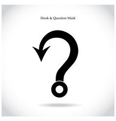 Fishing hook question mark sign vector