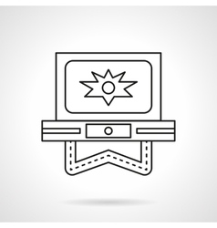 Flash video flat line icon vector