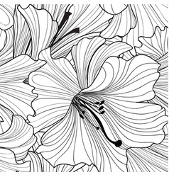 Floral seamless pattern flower background vector