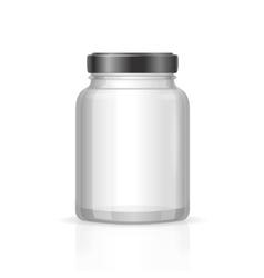 Glass Jars Bottles Empty Transparent vector image