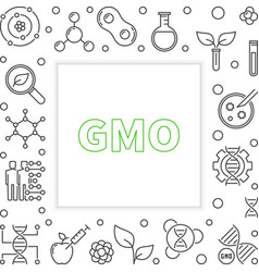 Gmo square frame in thin line style vector