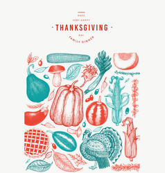 Happy thanksgiving day banner hand drawn vector