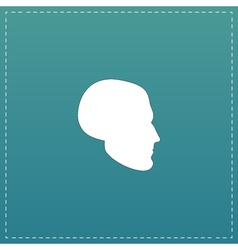 Head flat icon vector